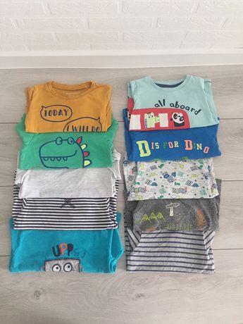 Zestaw 10 T-shirt z dlugim rekawem rozm 80-86