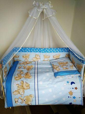 Детское постельное белье и плотные бортики в кроватку. Чехлы съёмные