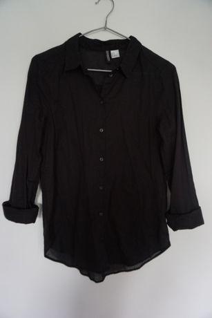Czarna klasyczna koszula H&M XXS 32 jak nowa