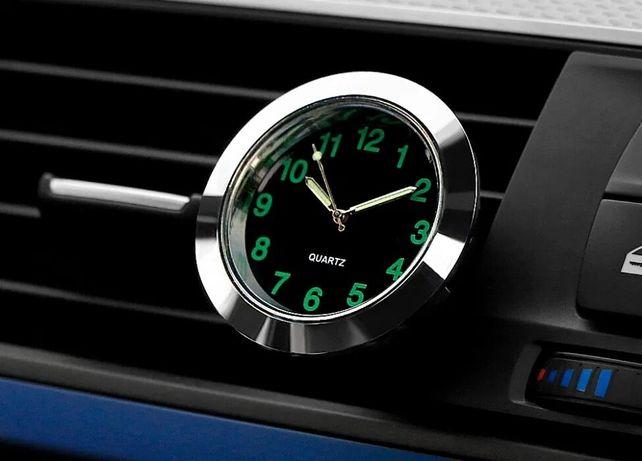 Часы авто автомобильные салонные хром классика ВАЗ винтажный годинник