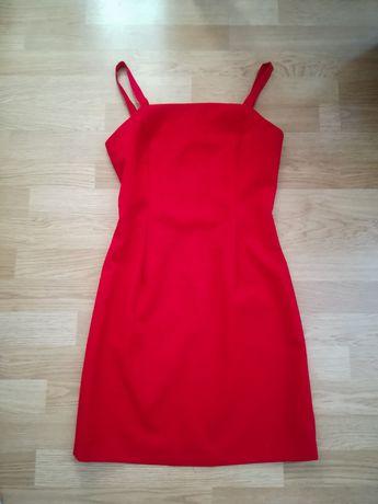 Czerwona sukienka mini Szelki ramiączka S sexy