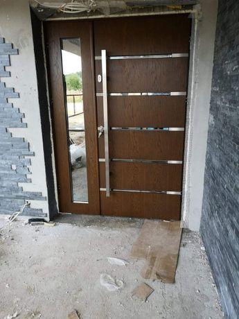 Drzwi wejściowe zewnętrzne drewniane od producenta