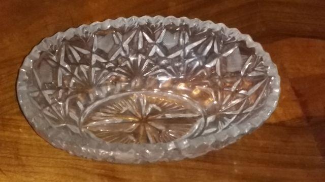 Конфетница салатница хрустальная