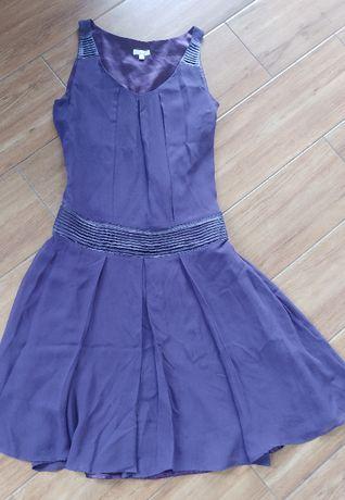 Fioletowa jedwabna sukienka SOLAR 34