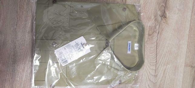 koszulobluza z krótkimi rękawami koloru khaki wzór 301/mon
