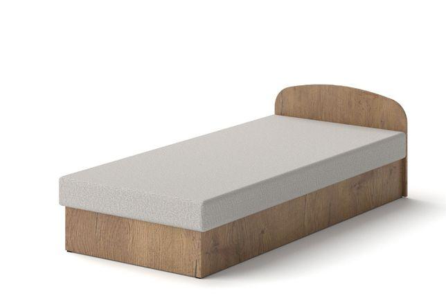 Łóżko hotelowe 90 x 200 Dąb Lancelot tapczan z materacem