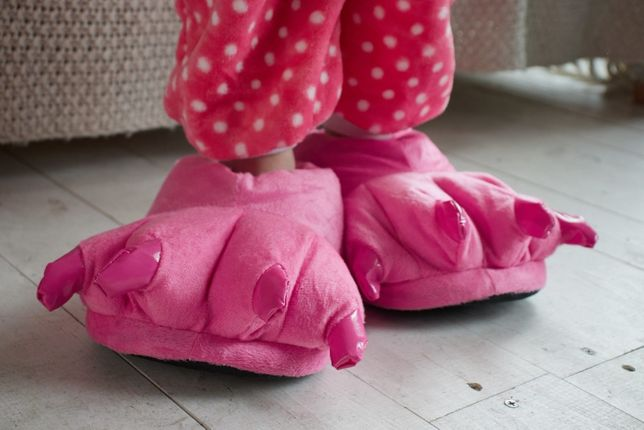 Тапочки кигуруми с когтями(ярко розовые)