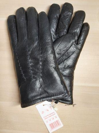 rękawiczki skórzane męskie z futerkiem w środku
