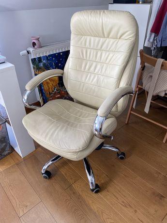Biurowy fotel skórzany