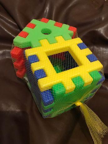 Кубик-пазл, конструктор с большими элементами