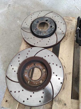 Travões  5x100 com discos ranhurados