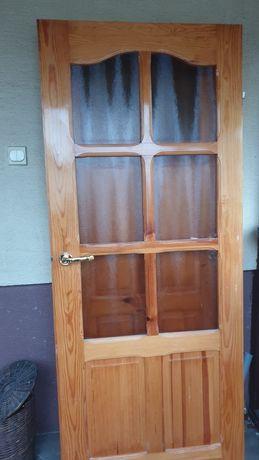 Drzwi drewniane sosnowe szer 80 i 70