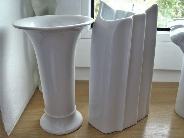 biała porcelana wazony