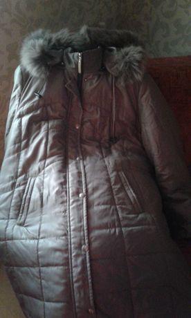 Тепле пальтішко великий розмір.