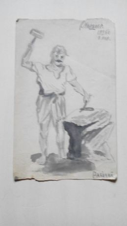 Авангардная графика 1925г. Рабочий
