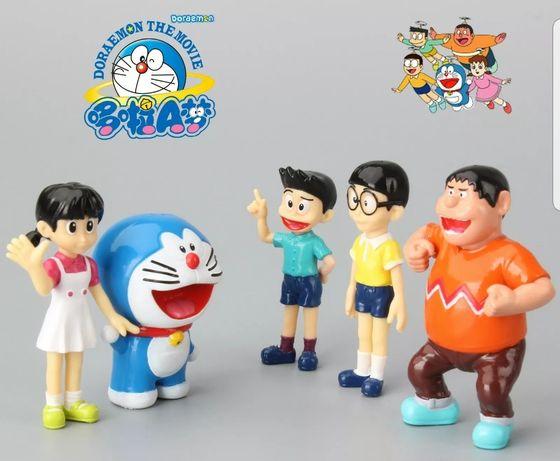5 pcs Doraemon Topo de Bolo (Portes Incluídos)
