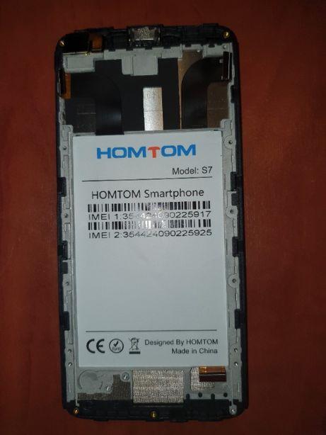 Дисплей Doogee (HomTom) S7 с сенсором чёрный разборка