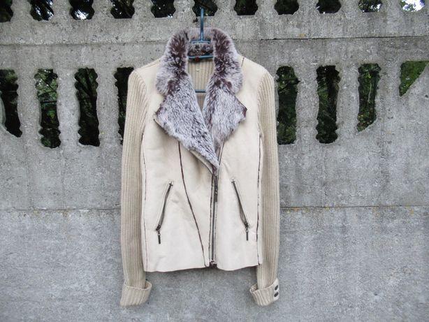 Skórzana kurtka 40 L z futerkiem Designers