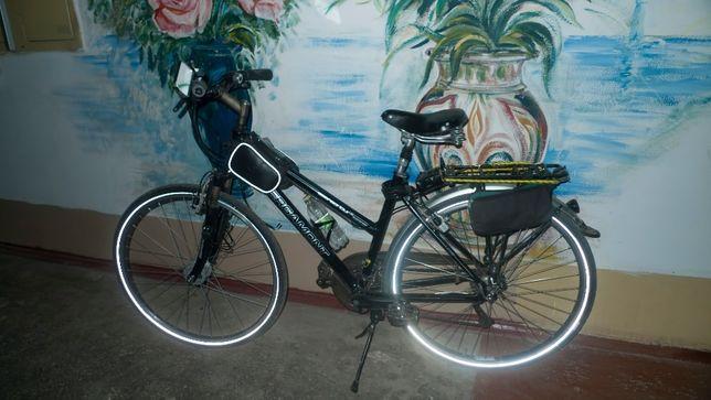 "Немецкий велосипед Bergamont: колёса 28"", 27 скор., гидротормоза"