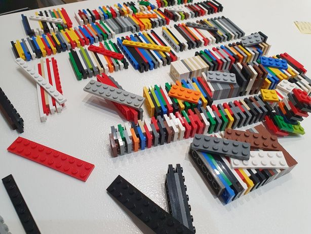 Lego płaskie posortowane płytki dużo rodzajów mix kg