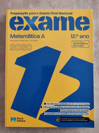 Livro para o Exame Nacional de Matemática A 2020