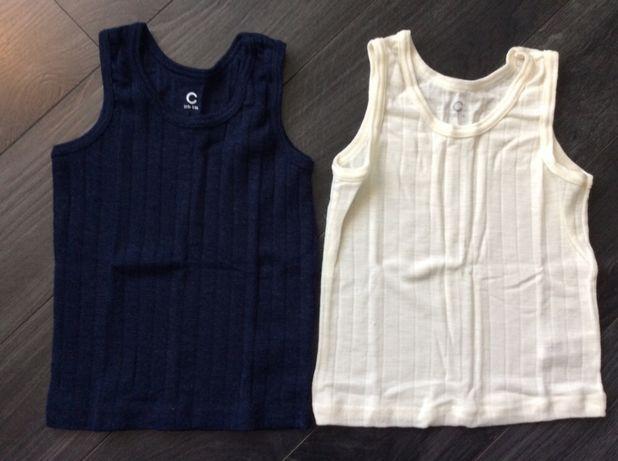 Koszulka na ramiączkach 100% wełna merino Cubus 110/116 %% NOWE