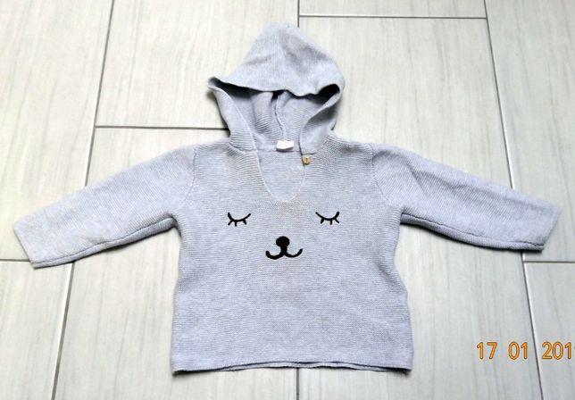 Sweterek ażurowy H&M 86 na 12-15 m-cy