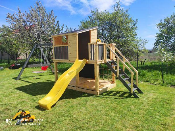 Drewniany plac zabaw, domek dla dzieci NOWOCZESNY model PINOKIO