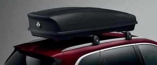 Oryginalny jak nowy kufer dachowy 480l na poprzeczki renault