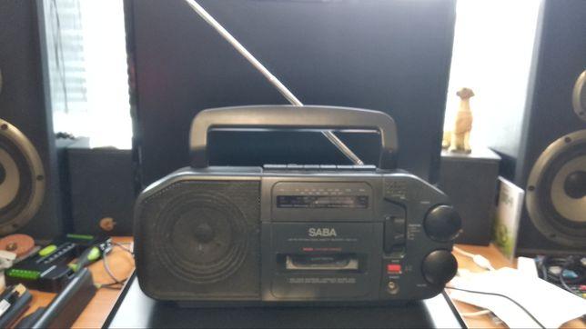 Радиоприемник. SABA RCR310. Магнитола кассетная. Радио.