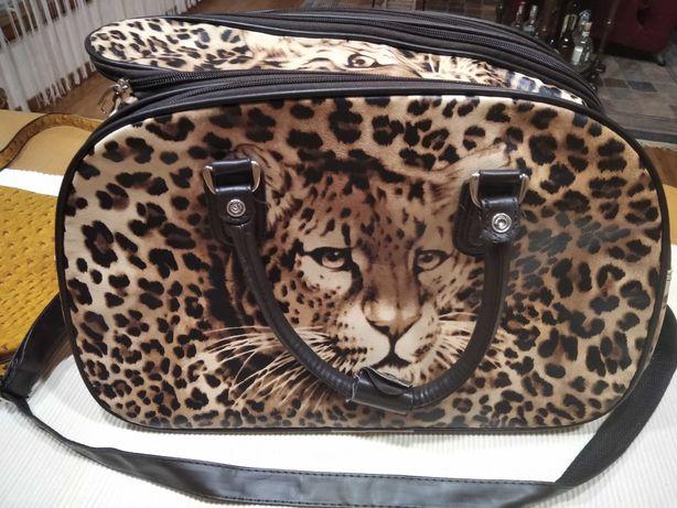 2 x torba damska kuferek 3d tygrys