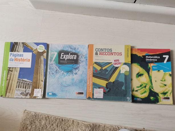 9 manuais escolares do 7° ano