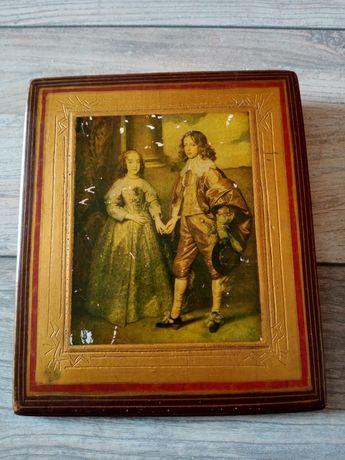Oledruk namalowany z okazji zaręczyn księcia Wilhelma z Marią Stuart.