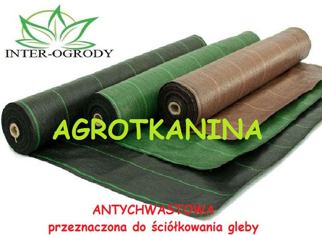 Agrotkanina czarna 162cmx100m UV 90g na CHWASTY HIT