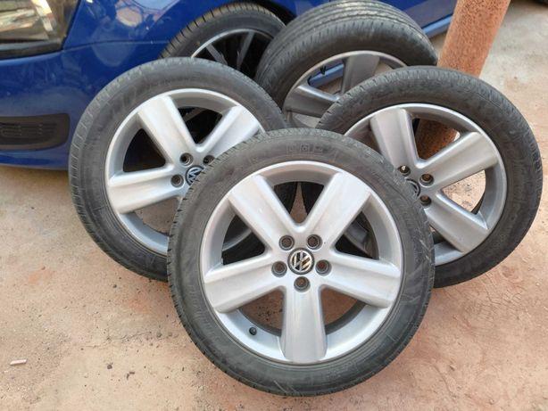 Jantes 16 5x100 Originais Polo MK4 + Pneus Novos 215/45 Nankang NS-20