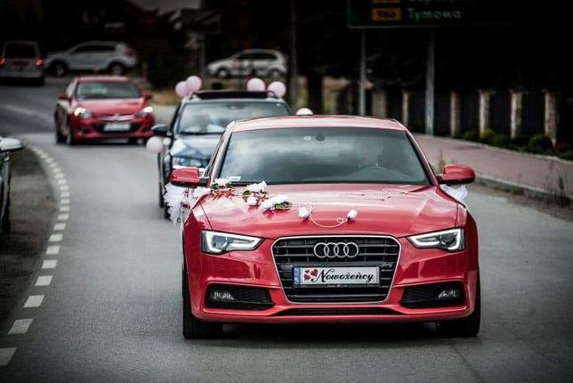 Samochód / auto do ślubu Audi a5 Czerwone wynajem na Wesele / Ślub.