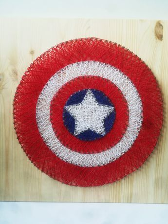Kapitan Ameryka Marvel string art