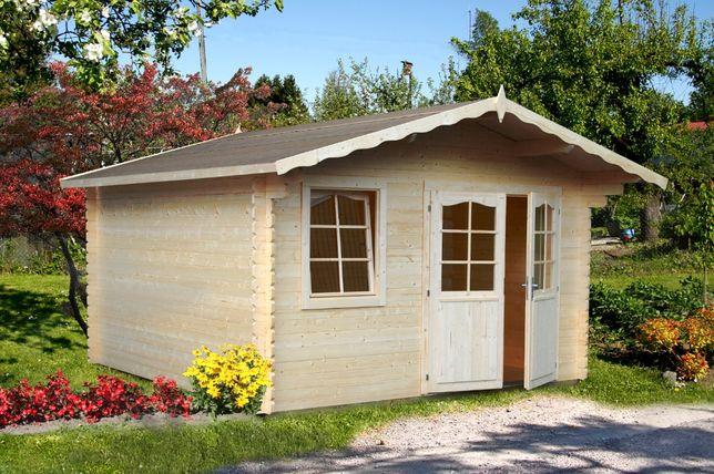 Drewniany domek narzędziowy drewniany magazynek 3.8x3.2m 34mm