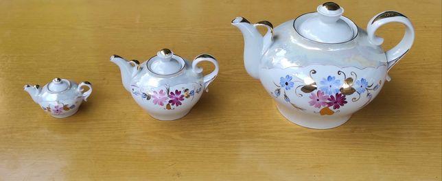 Чайный сервиз - комплект - 3 чайника