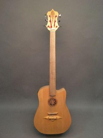 Акустическая Бас гитара (мастеровой, 6 струн, безладов)