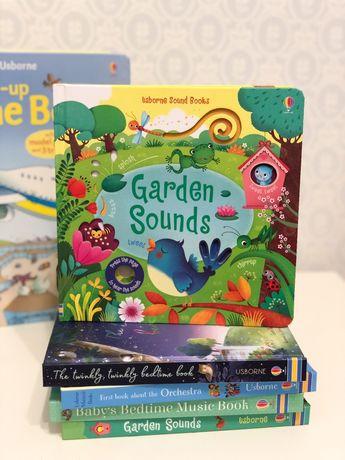 Игрушка музыкальная книга Garden Sounds Usborne Англия
