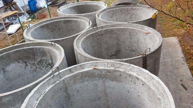 kręgi betonowe 1000x1000 studnie odwodnienia szambo Transport hds