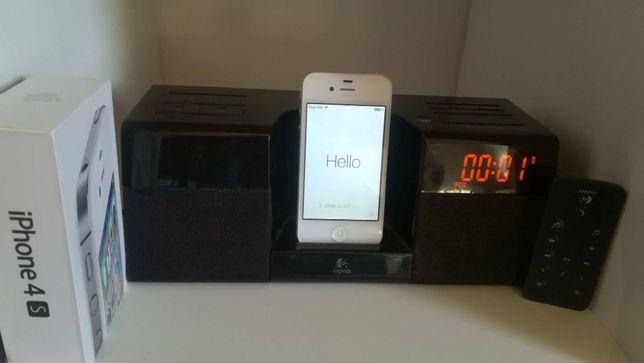 Iphone 4s + stacja do ipoda logitech z radiobudzikiem