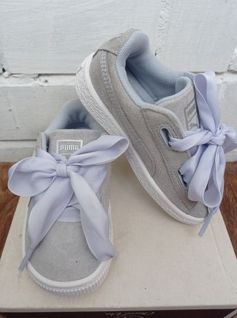Замшевые кроссовки Puma для девочки.