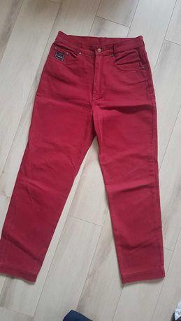 Spodnie dżinsowe jeansowe czerwone L