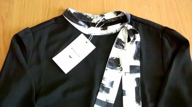 Bluzka czarna r.38 Mohito i Bluzka bawełniana Orsay ZESTAW