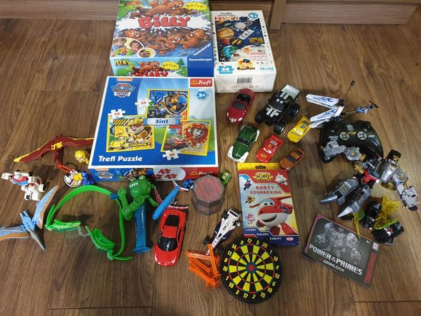 Paka zabawek dla chłopca transformers psi patrol zygzak samochodzik