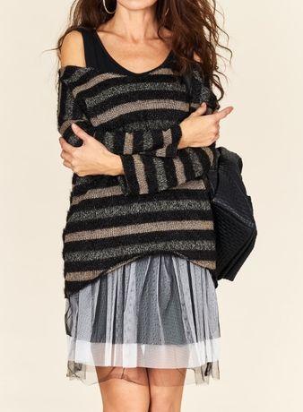 Włoska sukienka 2w1 - halka + sweterek uni S-L