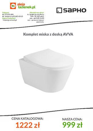 Miska wc Rimless AVVA WC wiszące z deską wolnoopadającą Lublin