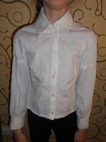 Рубашка блуза блузка школьная 7-8 лет р.122-128